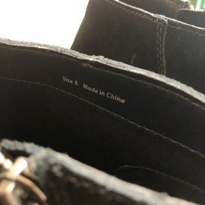 Dolce Vita Shoes - Dolce Vita Black Suede Side Zip Ankle Noots